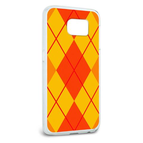 Argyle Hipster Orange - Preppy Galaxy S6 Case