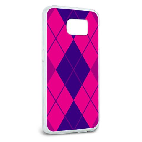 Argyle Hipster Purple Fuchsia - Preppy Galaxy S6 Case