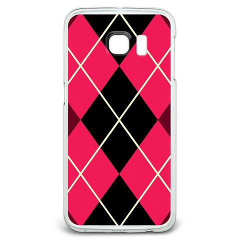 Argyle Hipster Pink - Preppy Galaxy S6 Edge Case
