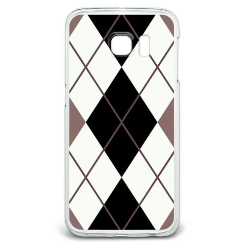 Argyle Hipster Black White - Preppy Galaxy S6 Edge Case