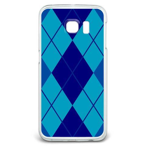 Argyle Hipster Blue - Preppy Galaxy S6 Edge Case