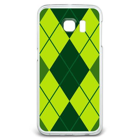 Argyle Hipster Green - Preppy Galaxy S6 Edge Case