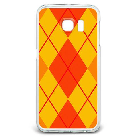Argyle Hipster Orange - Preppy Galaxy S6 Edge Case