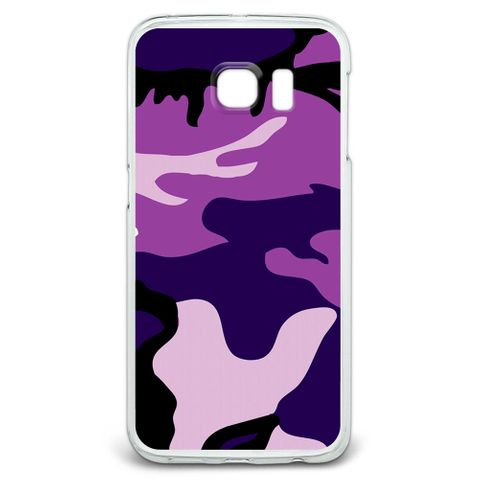 Purple Camouflage Army Soldier Galaxy S6 Edge Case