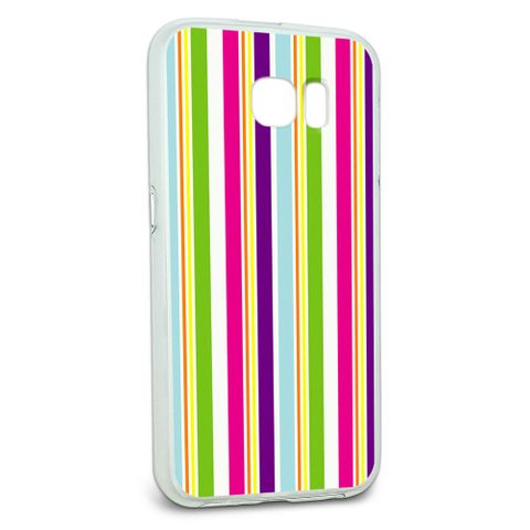 Protective Slim Hybrid Rubber Bumper Case for Galaxy S6 Patterns - Yuppy Colorful Stripes