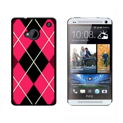 Argyle Hipster Pink HTC One Case