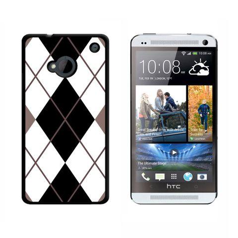 Argyle Hipster Black White HTC One Case