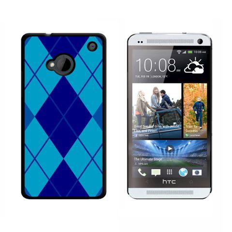 Argyle Hipster Blue HTC One Case