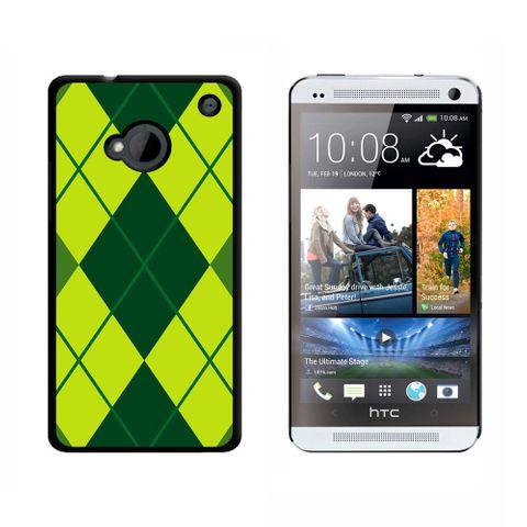Argyle Hipster Green HTC One Case