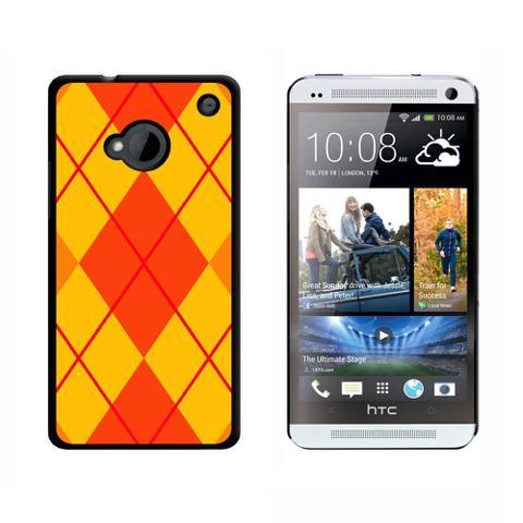 Argyle Hipster Orange HTC One Case