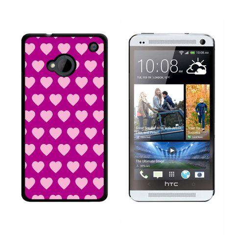 Sweet Heart Pattern Fuchsia HTC One Case
