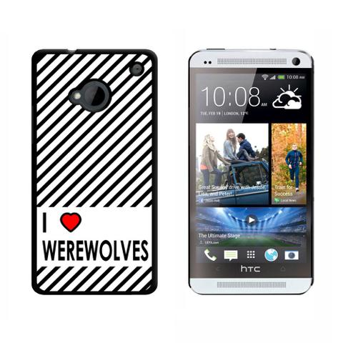 I Love Heart Werewolves HTC One Case
