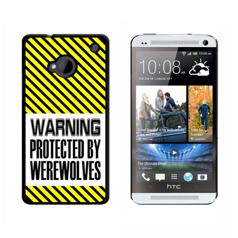 Warning Protected By Werewolves HTC One Case