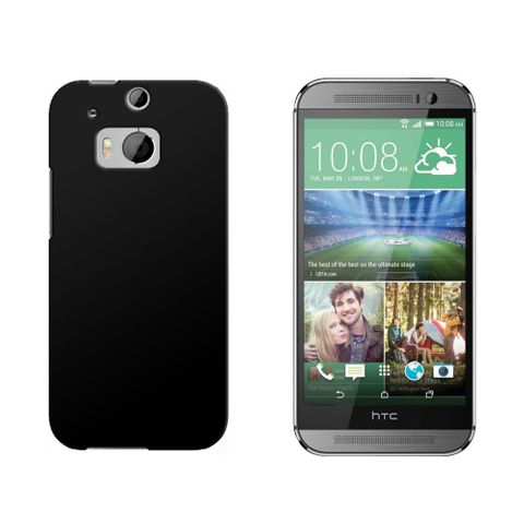 Black Snap On Hard Protective Case for HTC One M8