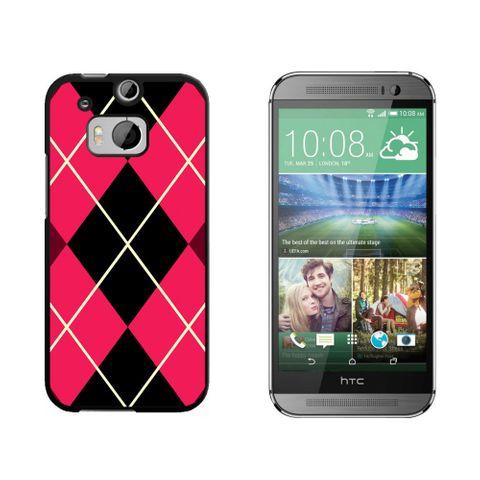 Argyle Hipster Pink - Preppy HTC One M8 Case