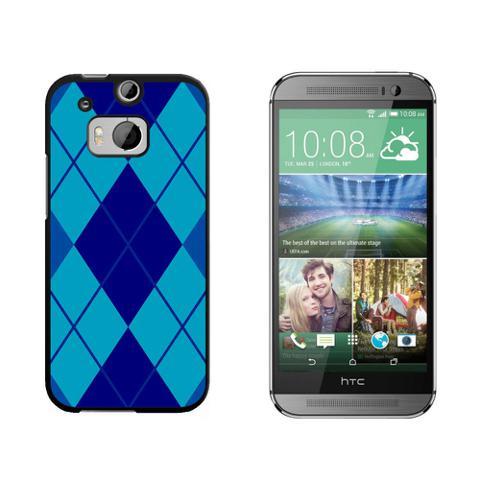 Argyle Hipster Blue - Preppy HTC One M8 Case