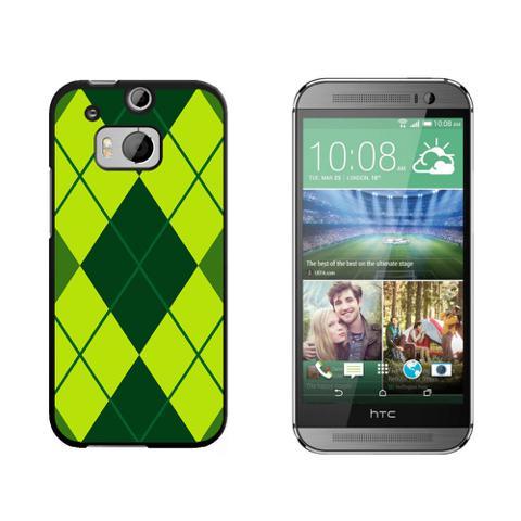 Argyle Hipster Green - Preppy HTC One M8 Case