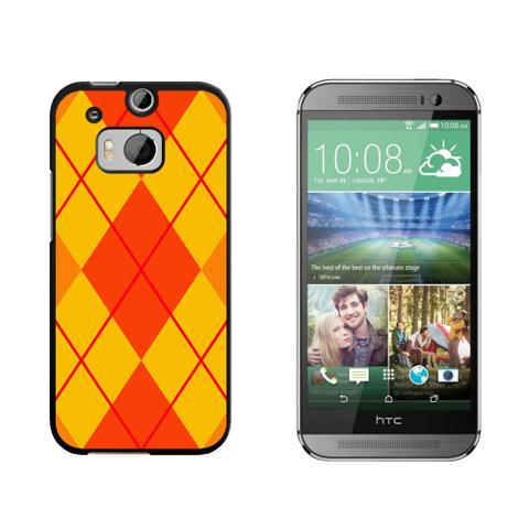 Argyle Hipster Orange - Preppy HTC One M8 Case