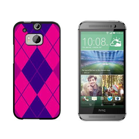 Argyle Hipster Purple Fuchsia - Preppy HTC One M8 Case