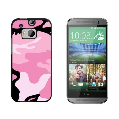 Pink Camouflage Army Soldier HTC One M8 Case