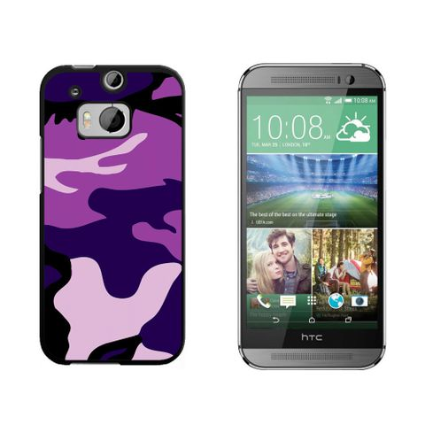 Purple Camouflage Army Soldier HTC One M8 Case
