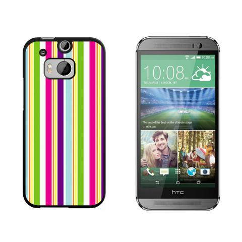 Yuppy Colorful Stripes HTC One M8 Case