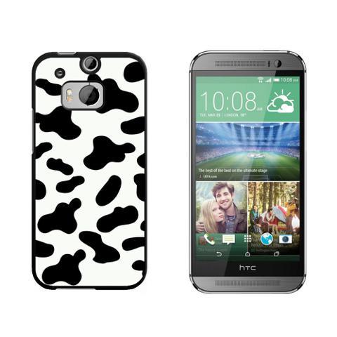 Cow Print Black White HTC One M8 Case