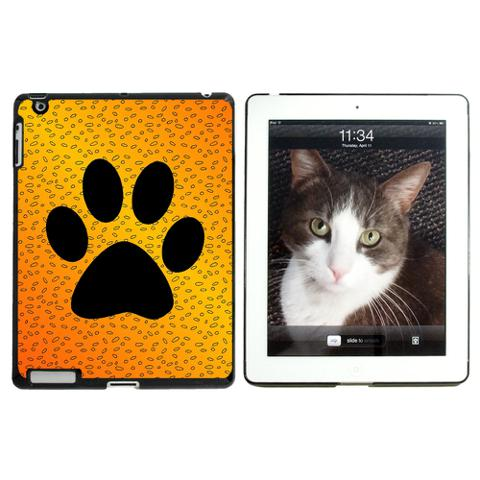 Paw Print of Awesomeness Orange Apple iPad Case