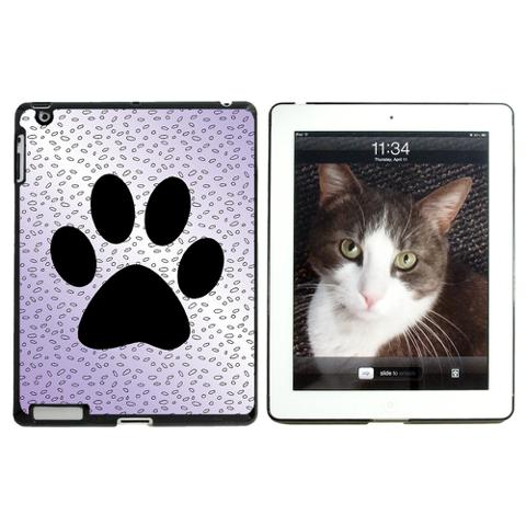 Paw Print of Awesomeness Purple Apple iPad Case