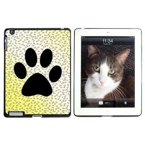 Paw Print of Awesomeness Yellow Apple iPad Case
