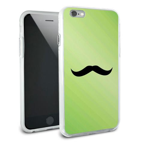 Mustache Funny Green Snap On Protective Slim Hybrid Rubber Bumper Case for Apple iPhone 6/6s Plus
