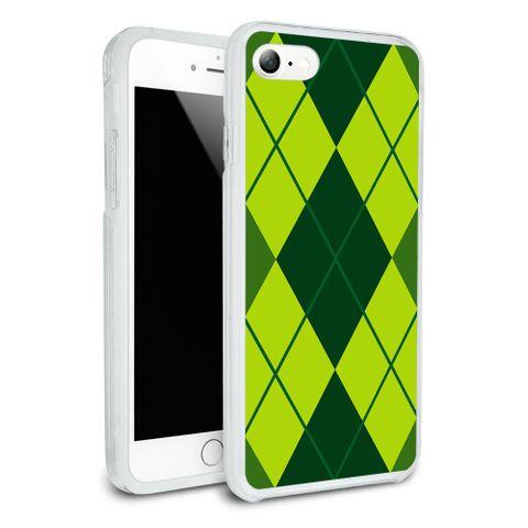 Argyle Hipster Green - Preppy Protective Slim Hybrid Rubber Bumper Case for Apple iPhone 7