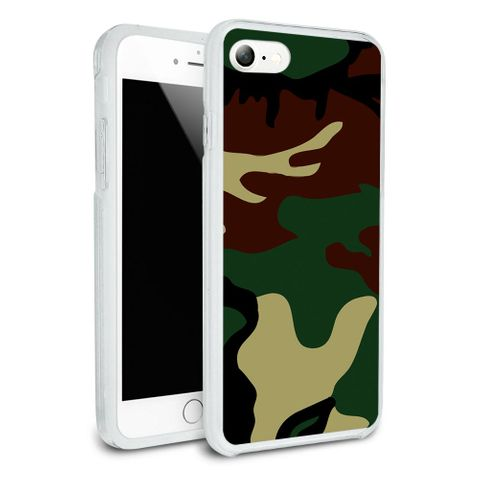 Camouflage Army Soldier Protective Slim Hybrid Rubber Bumper Case for Apple iPhone 7
