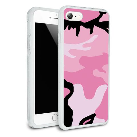 Pink Camouflage Army Soldier Protective Slim Hybrid Rubber Bumper Case for Apple iPhone 7