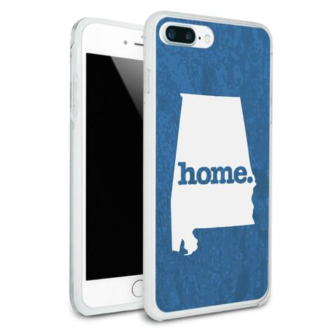 Alabama AL Home State Protective Slim Hybrid Rubber Bumper Case for Apple iPhone 7+ Plus