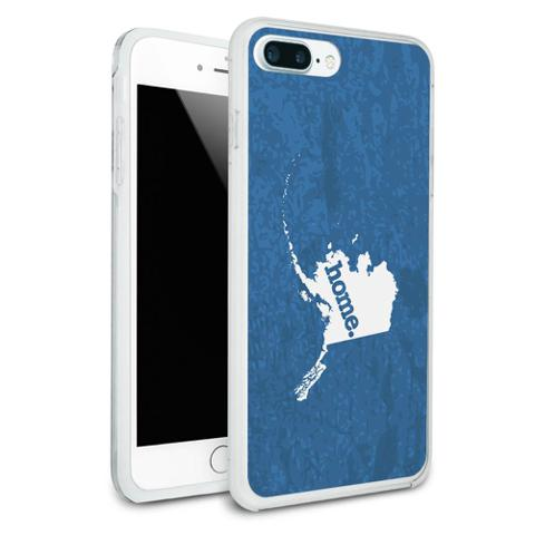 Alaska AK Home State Protective Slim Hybrid Rubber Bumper Case for Apple iPhone 7+ Plus