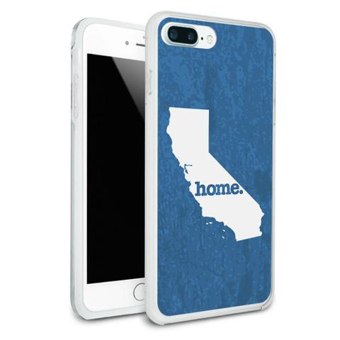 California CA Home State Protective Slim Hybrid Rubber Bumper Case for Apple iPhone 7+ Plus