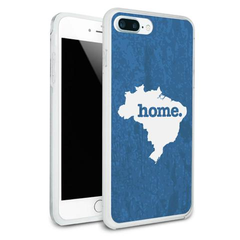 Brazil Home Country Protective Slim Hybrid Rubber Bumper Case for Apple iPhone 7+ Plus