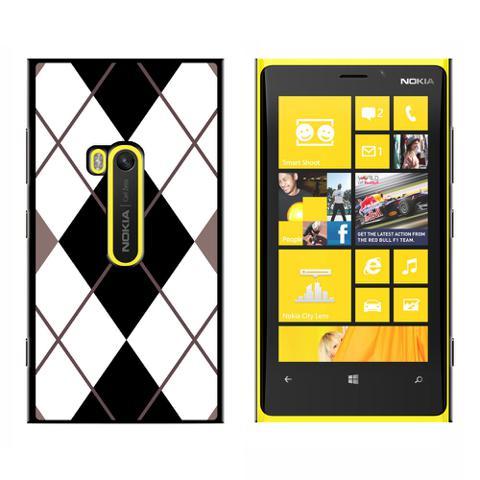 Argyle Hipster Black White - Snap On Case for Nokia Lumia 920