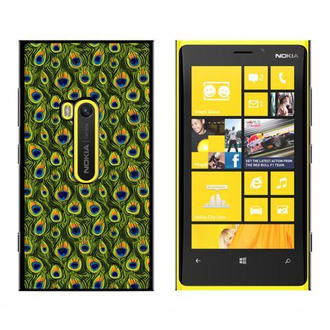 Peacock Print - Snap On Case for Nokia Lumia 920