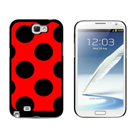 Mega Polka Dots Black Red Galaxy Note II