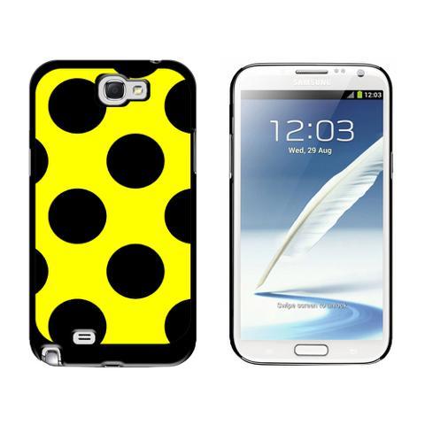 Mega Polka Dots Black Yellow Galaxy Note II