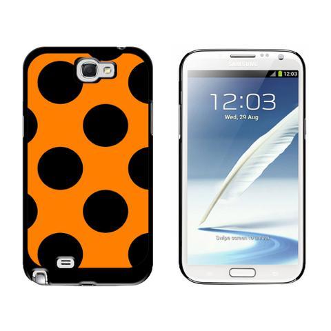 Mega Polka Dots Black Orange Galaxy Note II