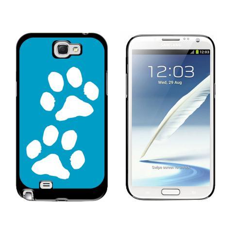 Paw Prints Blue Galaxy Note II