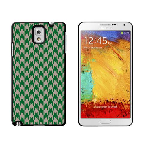 Preppy Houndstooth Green Gray Case for Galaxy Note III