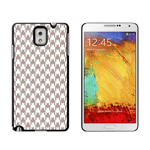 Preppy Houndstooth White Gray Case for Galaxy Note III