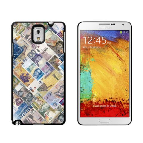 World Currency Money Bills Case for Galaxy Note III