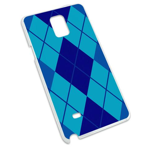Argyle Hipster Blue - Preppy Snap On Hard Protective Case for Samsung Galaxy Note 4