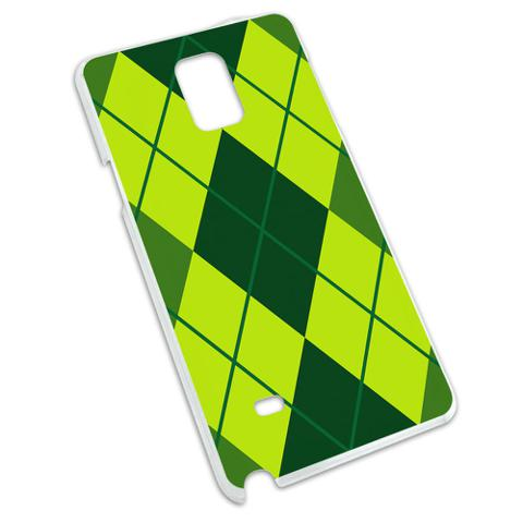 Argyle Hipster Green - Preppy Snap On Hard Protective Case for Samsung Galaxy Note 4