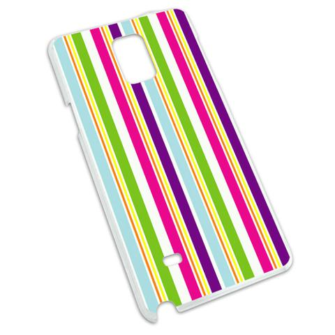 Yuppy Colorful Stripes Snap On Hard Protective Case for Samsung Galaxy Note 4